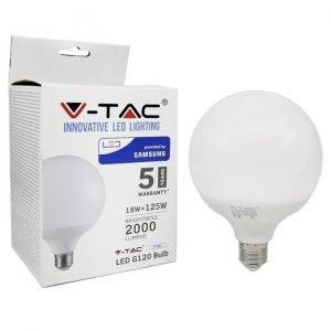 Lampada LED E27 18W Globo Luce Naturale G120