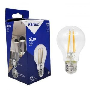 Lampadina LED Filament E27 10W Luce Bianco Caldo 2700K 1520 Lumen in Vetro Trasparente Bulb A60