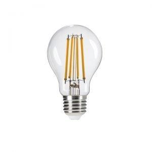 Lampadina LED Filament E27 10W Luce Bianco Naturale 4000K 1520 Lumen in vetro trasparente Bulb A60