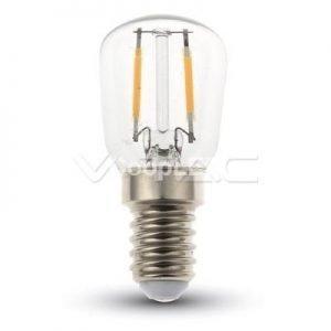 Lampadina LED E14 2W Luce Calda 3000K Bulb ST26 Filamento