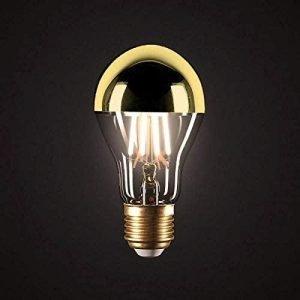 FAI Lampada LED E27 8W Luce Calda (2700k) A60 Calotta Dorata Dimmerabile 860 Lumen