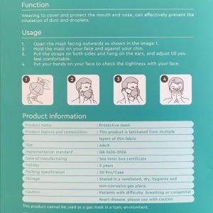 V-TAC Mascherina FFP2 – K95 (confezione da 20 Pezzi)