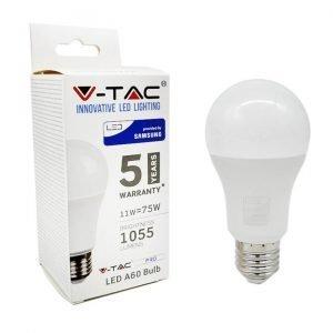 Lampada LED E27 11W A60 1055 Lumen Luce Bianco Naturale 4000K Chip Samsung