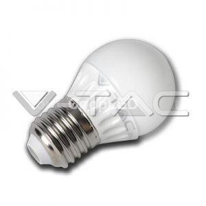 Lampadina LED E27 4W Luce Fredda 6000K Miniglobo