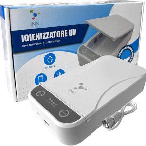 Igienizzatore Lampada Raggi UV Portatile Antibatterica per Igienizzare Mascherine con Aromaterapia e Cavo USB