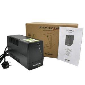 Gruppo di Continuità UPS ERA PLUS 1600 – Together ON, Uscite Schuko, Potenza 1600 VA, Autonomia fino a 30 min con 1 PC o 45 min con Modem Router, Stabilizzazione AVR