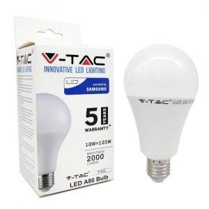Lampada LED E27 18W Luce Naturale Bulb A80