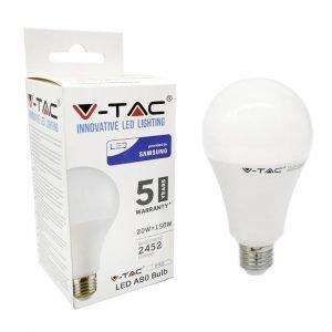Lampada LED E27 20W Luce Naturale Bulb A80