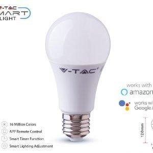 Lampada  Led Smart WI-FI E27 11W A60 RGB+W 4IN1 Dimmerabile