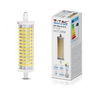 Lampada Led R7S 18w Equivalente a 150w Luce Calda 3000k