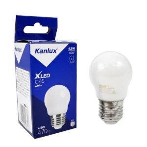 Lampada LED Filament E27 4,5W Luce Calda Bulb G45 in Vetro Bianco