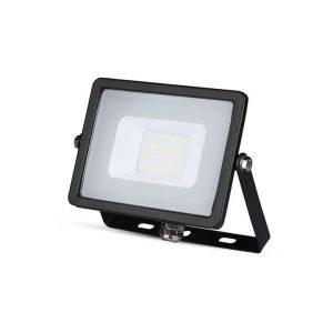 Faro LED SMD 20W Ultrasottile Luce Fredda Chip SAMSUNG Cornice Nera