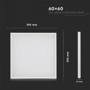 Pannello Led 40W Luce Naturale Dimensioni 60x60cm a Montaggio Superficiale o Incasso