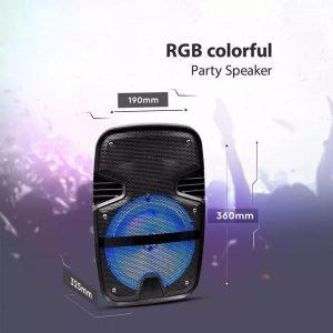 Cassa Attiva 15W Wireless Con Bluetoot Karaoke Led RGB Telecomando E Microfono