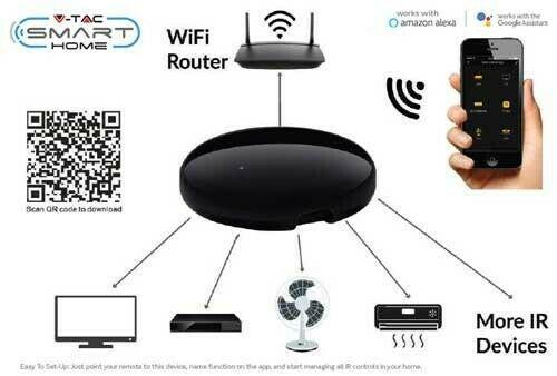 Universal IR Remote Compatibile Con AMAZON ALEXA E GOOGLE HOME