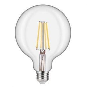 Lampadina LED E27 8W Globo G125 Luce Calda Filamento Extra-Lungo