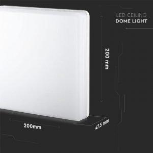 Plafoniera LED Quadrata 15W Luce Bianca Fredda