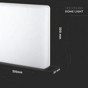 Plafoniera LED Quadrata 25W Luce Bianca Calda