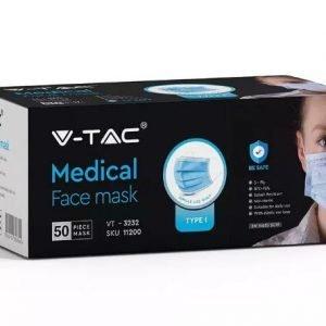 Mascherina medica TYPE I chirurgica 3 veli confezione da 50 pezzi