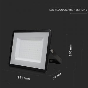 Faro LED SMD 100W Ultrasottile Luce Calda Chip SAMSUNG Cornice Nera