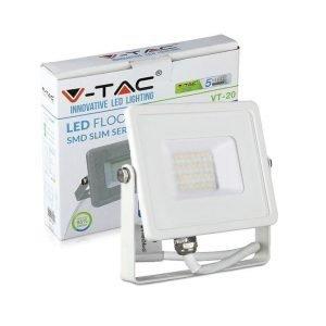 Faro LED SMD 20W Ultrasottile Luce Calda Chip SAMSUNG Cornice Bianca
