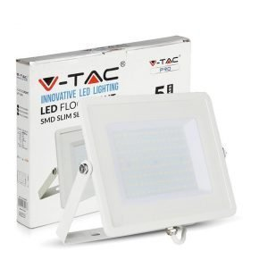 Faro LED SMD 100W Ultrasottile Luce Fredda Chip SAMSUNG Cornice Bianca