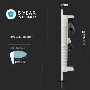Pannello da Incasso Circolare 12W Luce Calda con Chip Samsung