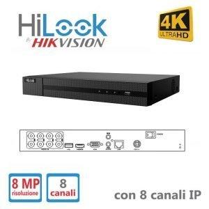 Hilook NVR 8 Canali Risoluzione Fino a 8 MP
