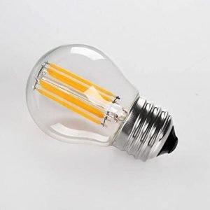 Lampada LED E27 6W Luce Calda Bulb G45, Vetro Trasparente