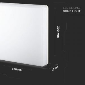 Plafoniera LED Quadrata 25W Luce Bianca Naturale