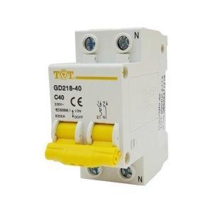 Magnetotermico 2p neutro separato C40 6000a gd218-40