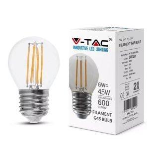 Lampada LED E27 6W Luce Naturale 600Lumen Trasparente