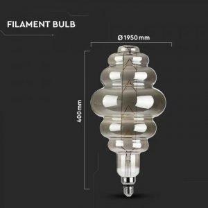 Lampada LED 8w Luce Calda Ambrata 2200K S180