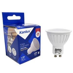 Lampada LED GU10 1,2W Luce Calda – Angolo 120°