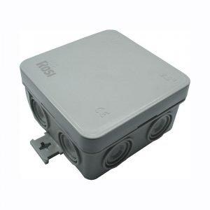Cassetta di Derivazione 74×74 IP65 Grigia con Alette