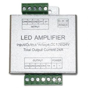 Amplificatore  Per Controller Di Strisce LED RGB +W 12/24V