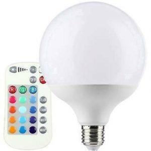 Lampada LED E27 G95 Multicolor Con Telecomado