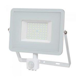 Faro LED 50W Luce Fredda Con Sensore Di Movimento e Crepuscolare