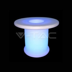 Tavolino Basso RGB Da Esterno Con Telecomando , Ricaricabile