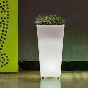 Vaso melisa30 RGB+Luce Fredda Ricaricabile & Solare, con Telecomando